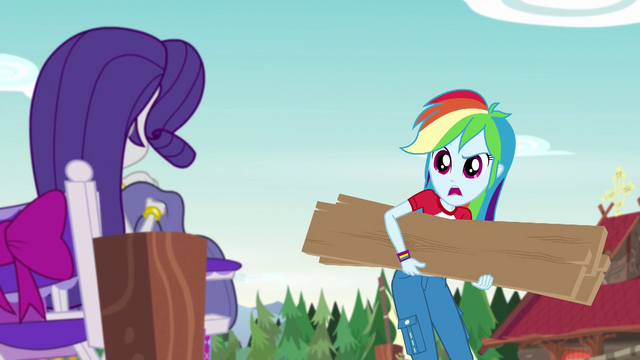 "File:Rainbow Dash ""give us a hand here, Rarity"" EG4.png"
