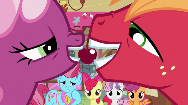 File:Cheerilee and Big McIntosh sharing a cherry S2E17.png
