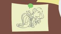 Rainbow Dash's Dress sketch S1E14