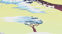 Snow on trees falling off S1E11