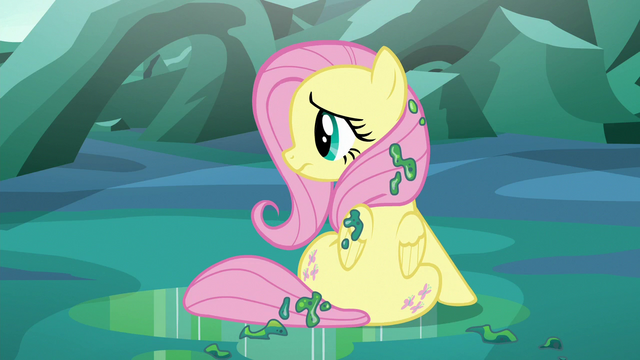 File:Fluttershy sitting alone covered in changeling slime S6E26.png