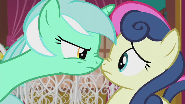 File:Lyra pressing her muzzle against Sweetie Drops S5E9.png