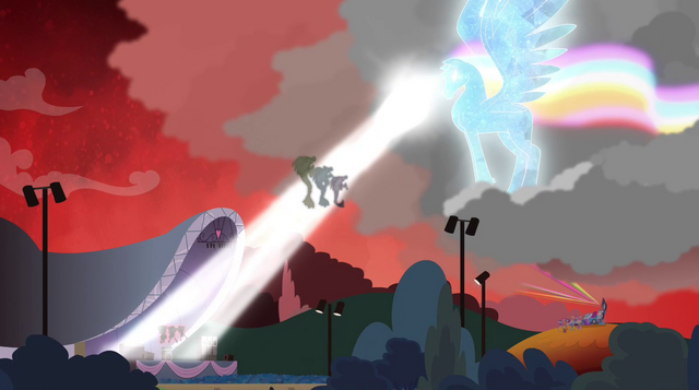File:Rainbooms alicorn shooting laser beam onto the Dazzlings EG2.png