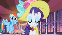 Rainbow Dash following Rarity S2E9