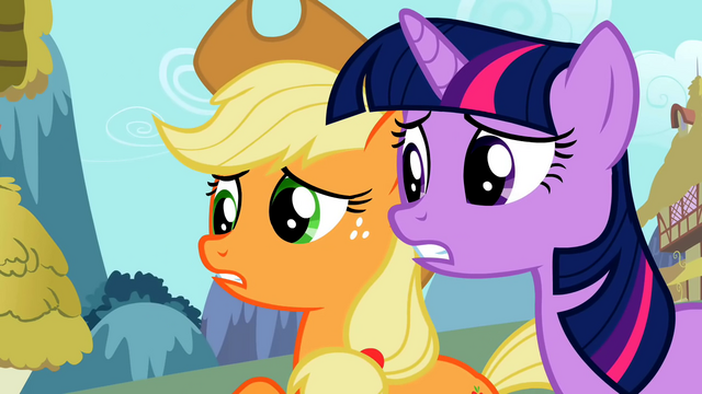 File:Applejack pleading with Zecora S02E06.png
