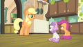AJ 'Rarity's on her way here to look after you two' S4E17.png