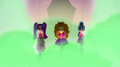 Dazzlings strutting onto ampitheater stage EG2.png