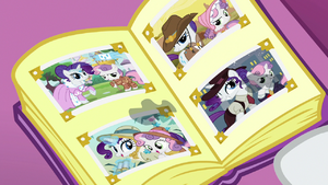 Rarity and Sweetie Belle's tear-stained photo album S7E6.png