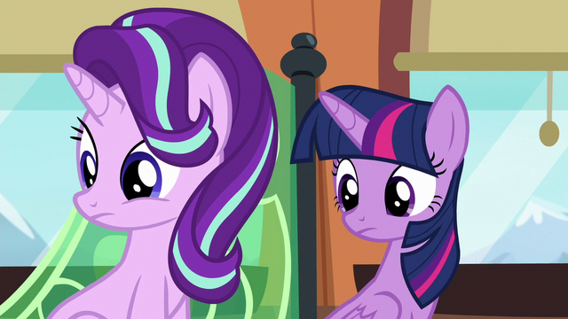 File:Twilight and Starlight listening to Spike S6E16.png