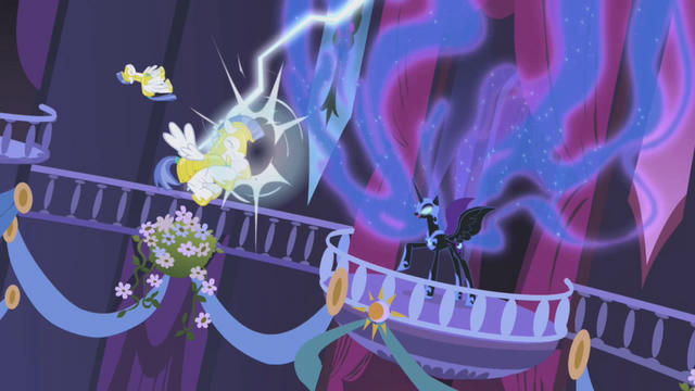 File:Nightmare Moon shocks the Royal Guards S01E02.png