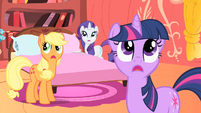 Twilight, AJ, and Rarity hear lightning S1E08