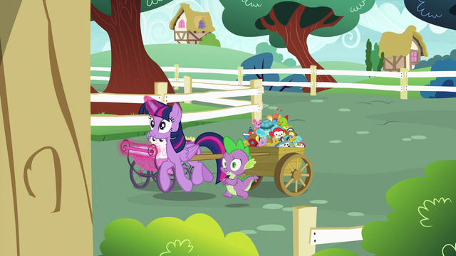 File:Twilight and Spike enter Ponyville Schoolhouse S7E3.png