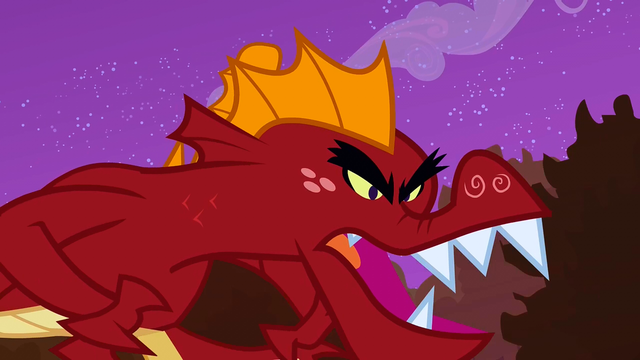 File:Garble chasing Spike and the ponies S2E21.png