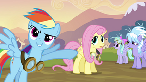 Rainbow Dash Fluttershy Goggles Point S02E22