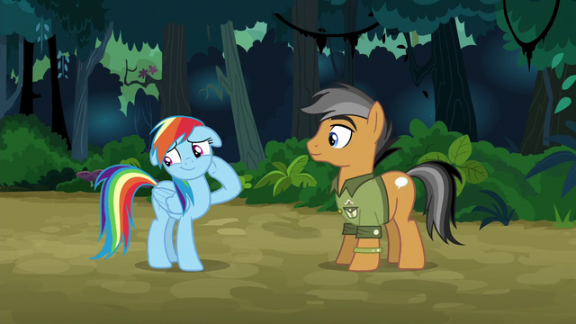 File:Rainbow embarrassed by Quibble's compliment S6E13.png