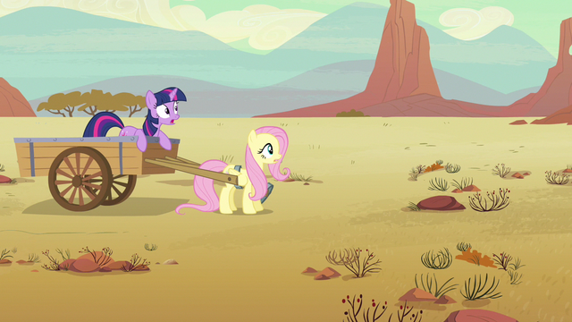 File:Twilight & Fluttershy she goes S2E14.png