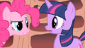Pinkie Pie tells Twilight she needs to get out more S1E16.png