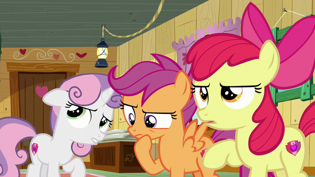 File:The Cutie Mark Crusaders thinking S6E4.png