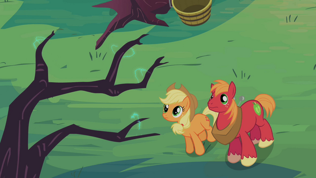 File:Applejack and Big McIntosh looking at branch S2E12.png