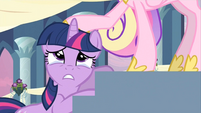 Cadance putting her hoof on Twilight S2E25