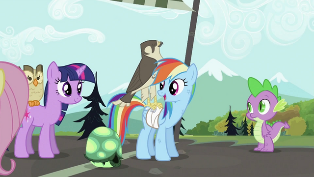 """File:Rainbow Dash """"Gets to be"""" S2E07.png"""