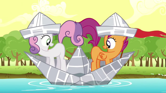 File:Scootaloo & Sweetie Belle hoping S2E23.png