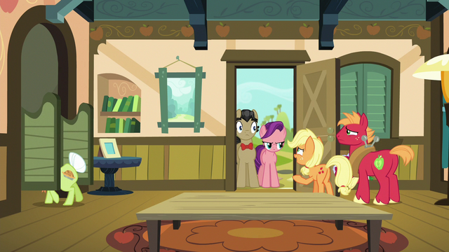 """File:Young Applejack """"excuse me one second!"""" S6E23.png"""