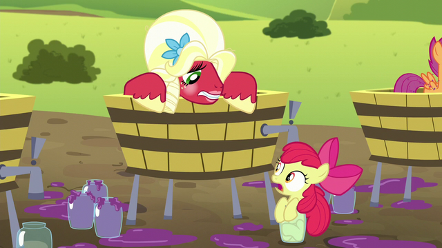 "File:Apple Bloom ""you almost squished ME!"" S5E17.png"