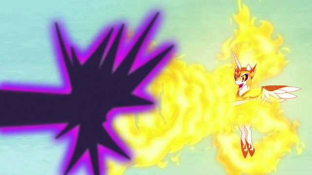 File:Daybreaker repels Nightmare Moon's magic with flames S7E10.png