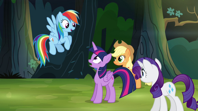 """File:Rainbow Dash """"I spotted the house"""" S4E04.png"""