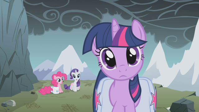 File:Twilight, Pinkie, and Rarity see the others catch up S1E07.png
