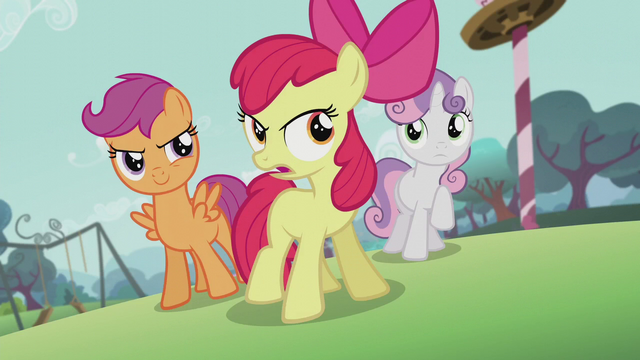 """File:Apple Bloom """"Don't listen to her!"""" S5E18.png"""