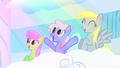 Merry May, Rainbowshine and Derpy enjoying the sight S1E16.png