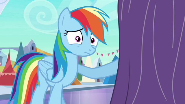 """File:Rainbow """"we may have a problem"""" S3E01.png"""