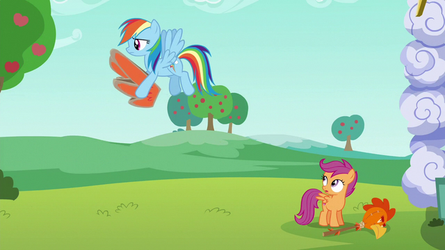 File:Rainbow carries cardboard wings away S6E14.png