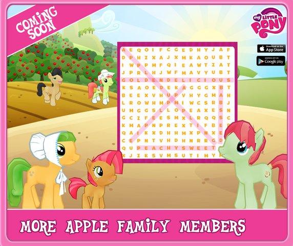 File:Sweet Apple Acres Gameloft mobile game characters wordsearch hint.png