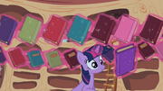 Twilight Sparkle reshelf books 4 S02E10