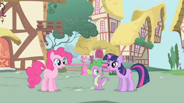 "File:Twilight says ""Um, hello"" to Pinkie S1E01.png"