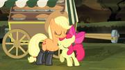 Applejack and Apple Bloom hugging S4E17.png