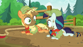 Applejack and Rara look at each other S5E24.png