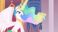 Princess Celestia's magic glow color change