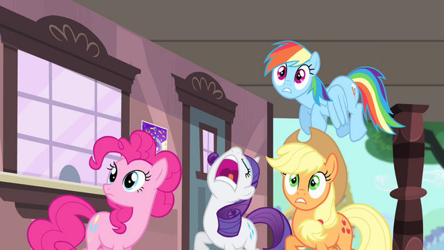 File:Rarity tells others to duck S4E11.png