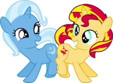 FANMADE Trixie and Sunshet Shimmer