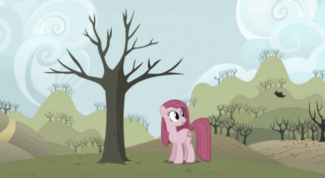 File:Pinkie Pie looking at floating leaf S3E13.png