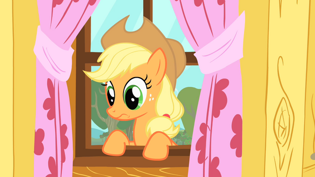 File:Applejack makes a face due to the CMC's poor performance S1E18.png