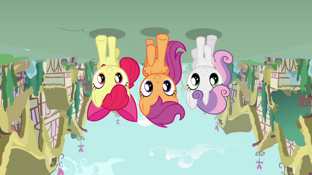 File:Cutie Mark Crusaders upside-down S4E12.png