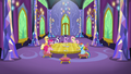 Mane Six in castle dining room zoom-out S5E3.png