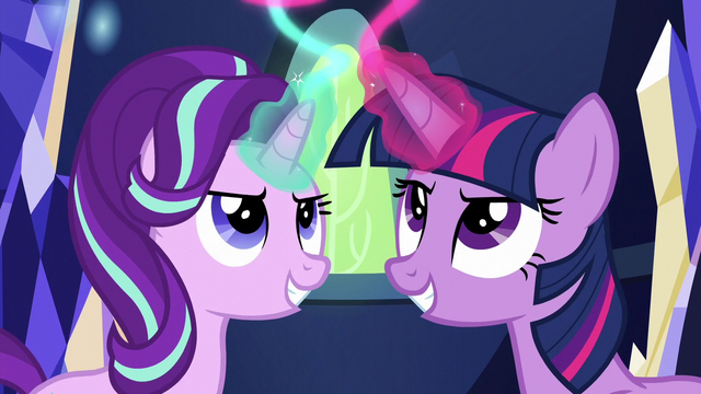 File:Twilight and Starlight using their magic S6E12.png