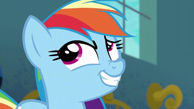 File:Rainbow Dash smirking S6E7.png