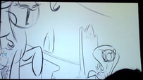 S5 animatic 40 Pinkie Pie laughs as Fluttershy notices her cutie mark